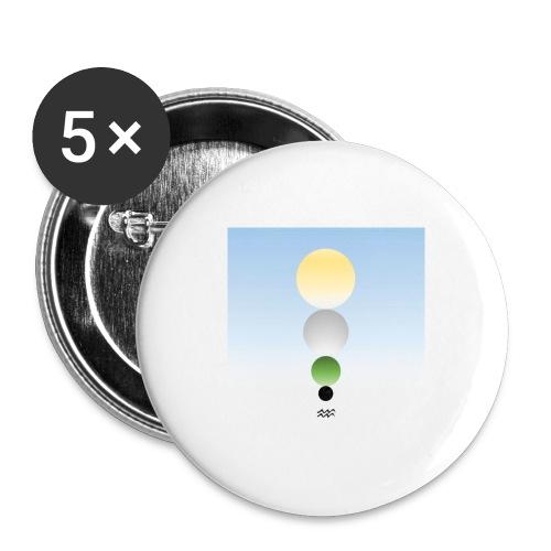 PM Tarot Spheres Verseau - Lot de 5 petits badges (25 mm)