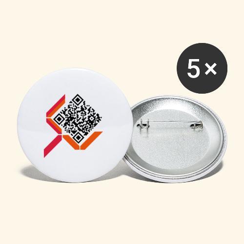 qrcodelogo - Buttons klein 25 mm (5er Pack)