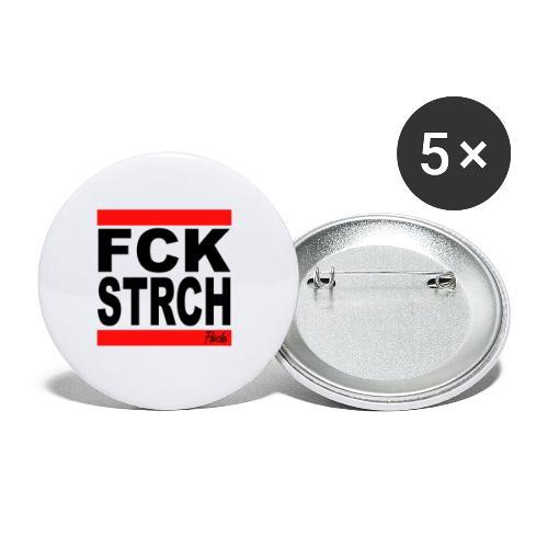 FCK STRCH - Buttons klein 25 mm (5er Pack)