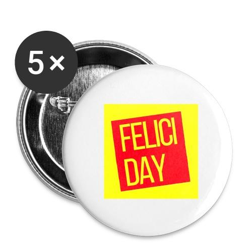 Feliciday - Paquete de 5 chapas pequeñas (25 mm)