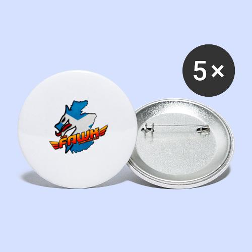 IndiFawks - Buttons small 1''/25 mm (5-pack)