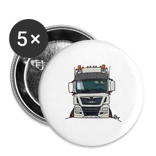 0819 M truck white - Buttons klein 25 mm (5-pack)