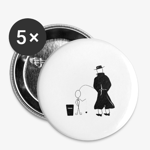 Pissing Man against environmental pollution - Buttons klein 25 mm (5er Pack)