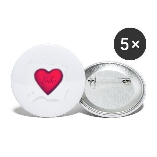 liebe, ist Freundlichkeit zwischen den Menschen - Buttons klein 25 mm (5er Pack)