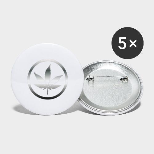 HOJA MARIA plata - Paquete de 5 chapas pequeñas (25 mm)
