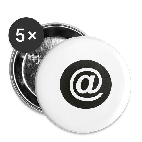 arroba_circulo - Paquete de 5 chapas pequeñas (25 mm)