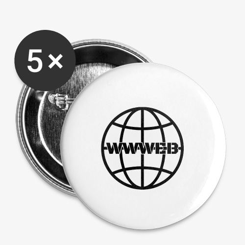 WWWeb (black) - Buttons small 1''/25 mm (5-pack)