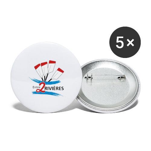 Entre 2 Rivières - Lot de 5 petits badges (25 mm)