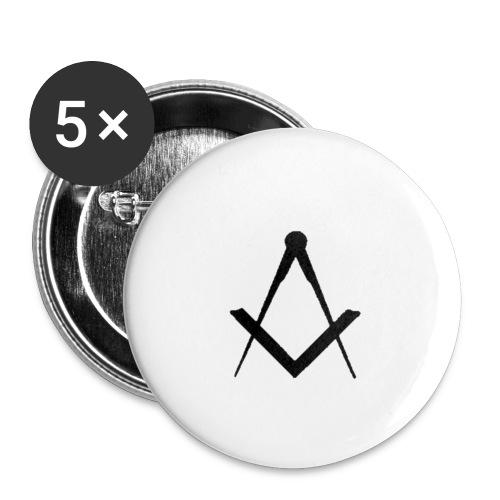 massoneria - Confezione da 5 spille piccole (25 mm)