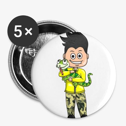 Tomu och ödlan - Små knappar 25 mm (5-pack)