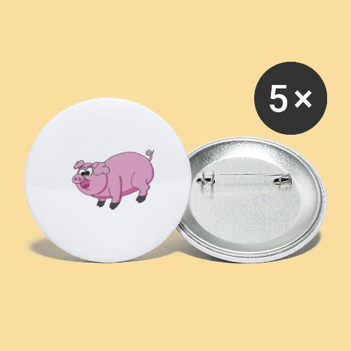 Pti pig - Buttons small 1''/25 mm (5-pack)