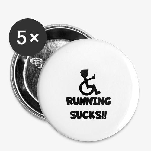 Rolstoel gebruikers haten rennen - Buttons klein 25 mm (5-pack)