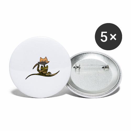 Le Chat Asiatique - J'peux pas j'ai un Chat - Lot de 5 petits badges (25 mm)
