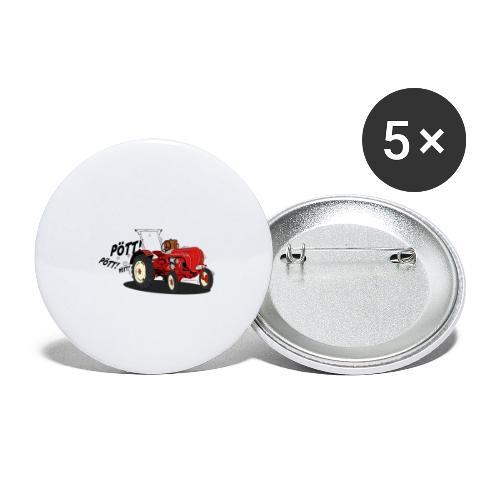Brunhilde pött pött - Buttons klein 25 mm (5er Pack)