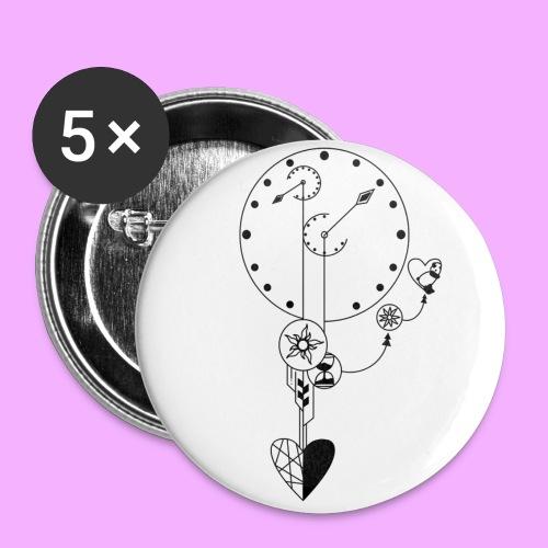 L'amour - Lot de 5 petits badges (25 mm)