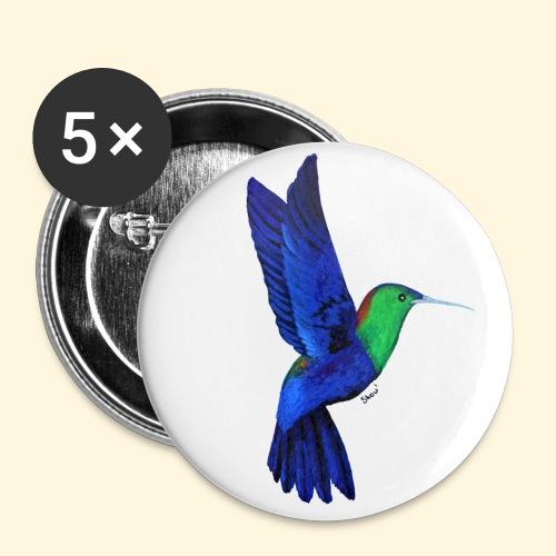 Colibri bleu et vert - Badge petit 25 mm