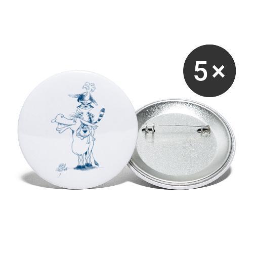 Bremer Stadtmusikanten Volker Ernsting - Buttons klein 25 mm (5er Pack)