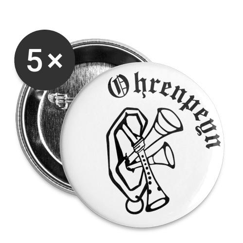 logo ohrenpeyn schriftzug 1 - Buttons klein 25 mm (5er Pack)