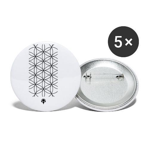 Deritorisada - Die Blume des Anfangs - Buttons klein 25 mm (5er Pack)
