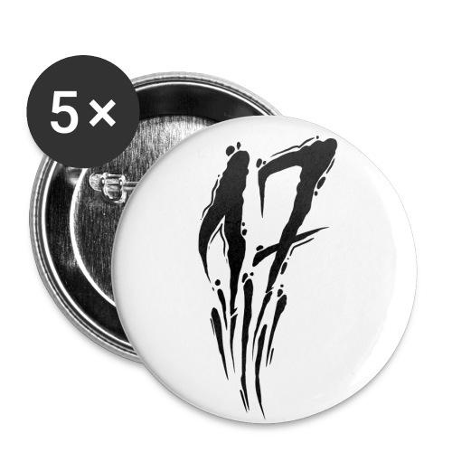17 - Lot de 5 petits badges (25 mm)