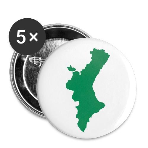 València - Paquete de 5 chapas pequeñas (25 mm)