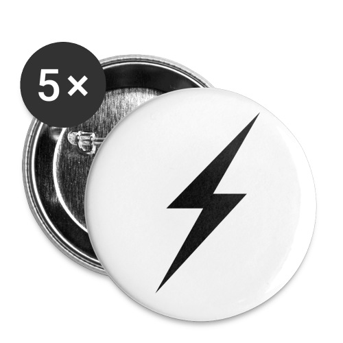 slash transparent - Buttons small 1''/25 mm (5-pack)