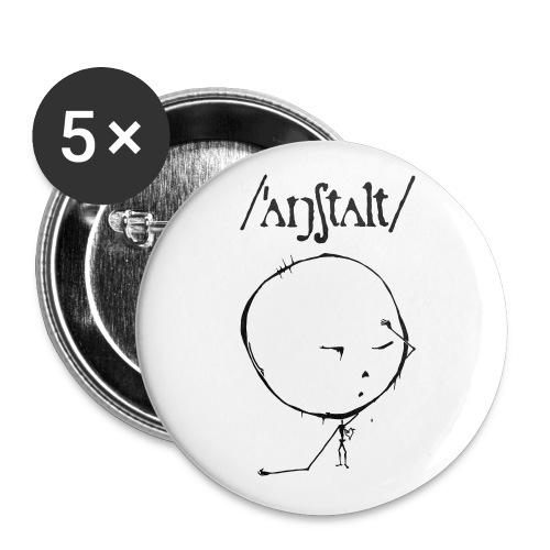 logo mit kreisling - Buttons klein 25 mm (5er Pack)