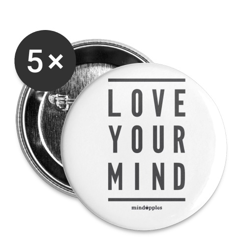 Mindapples Love your mind merchandise - Buttons small 1''/25 mm (5-pack)