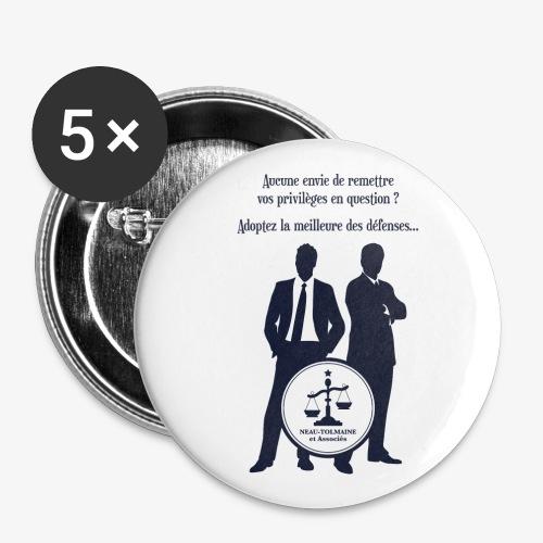 Cabinet Neau-Tolmaine et associés - Lot de 5 petits badges (25 mm)