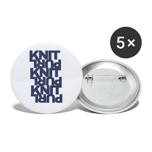 St, dark - Buttons small 1''/25 mm (5-pack)