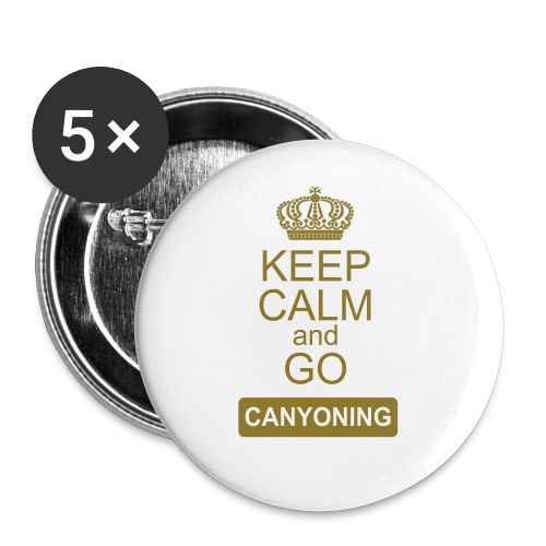 keep calm and go canyoning 2 - Buttons klein 25 mm