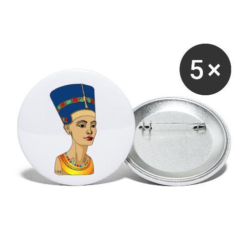 Nofretete - Buttons klein 25 mm (5er Pack)