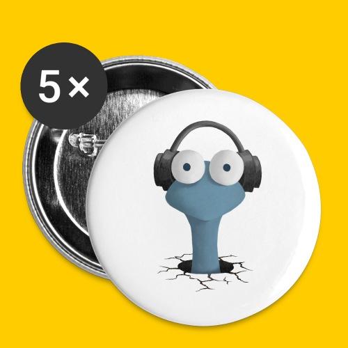 Musicworm - Små knappar 25 mm (5-pack)