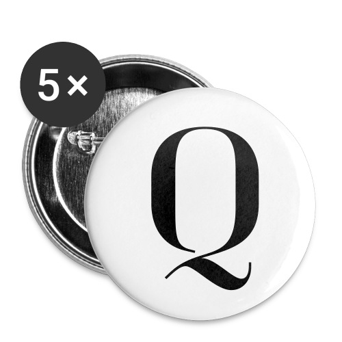 Q - Buttons small 1''/25 mm (5-pack)