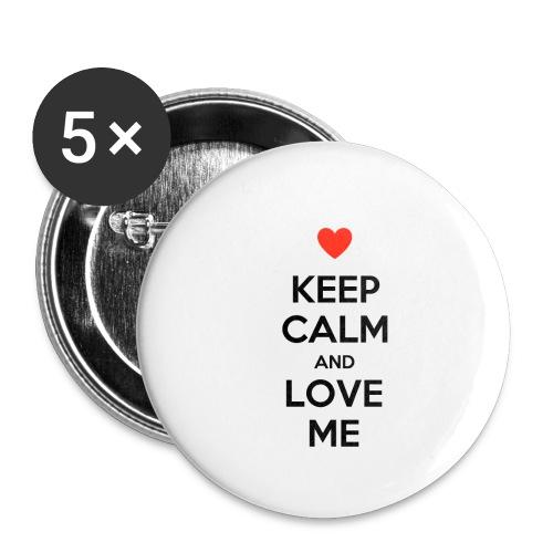 Keep calm and love me - Confezione da 5 spille piccole (25 mm)