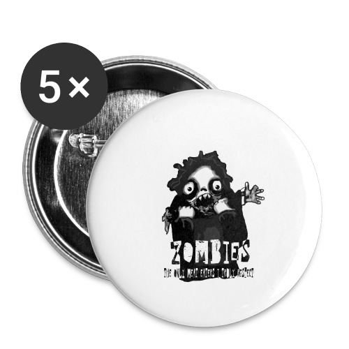 zombies - the only meat eaters i truly respect sv - Små knappar 25 mm (5-pack)