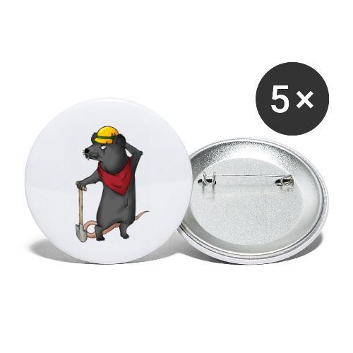 Arbeiter Ratte - Buttons klein 25 mm (5er Pack)