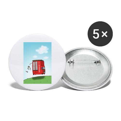 Feuerwehrwagen - Buttons klein 25 mm (5er Pack)
