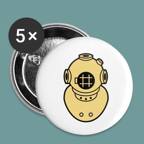 scaph_02 - Lot de 5 petits badges (25 mm)