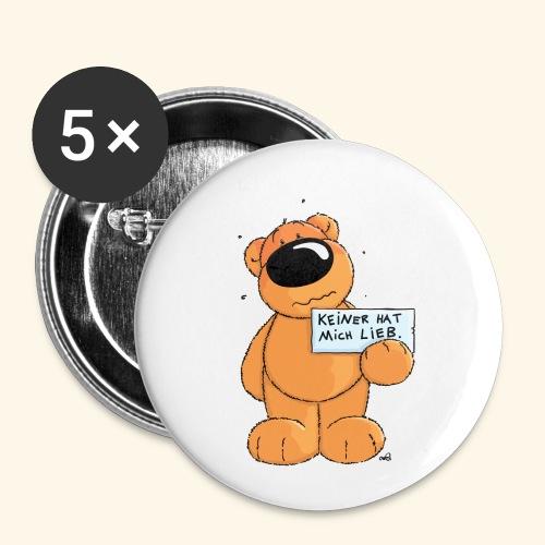 chris bears Keiner hat mich lieb - Buttons klein 25 mm (5er Pack)