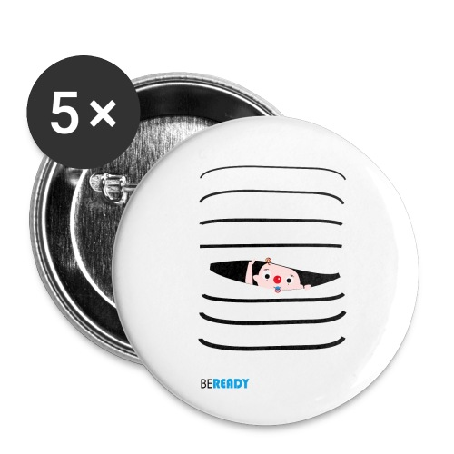 BEREADY_BOY.png - Buttons klein 25 mm (5-pack)