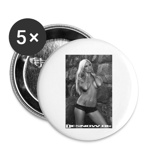 Ashley - Buttons/Badges lille, 25 mm (5-pack)