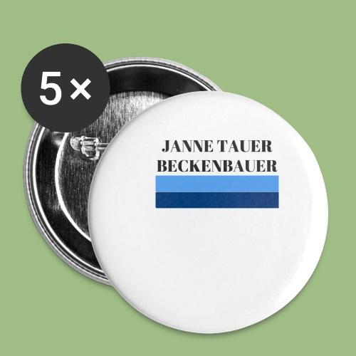 Janne Tauer BECKENBAUER - Små knappar 25 mm (5-pack)