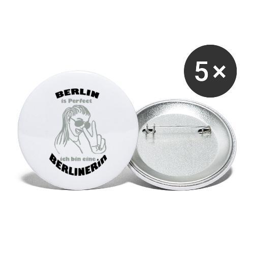 ich bin eine Berlinerin - Buttons klein 25 mm (5er Pack)