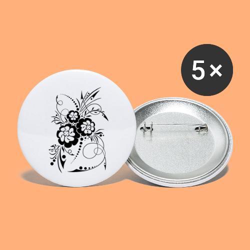exposion florale - Lot de 5 petits badges (25 mm)