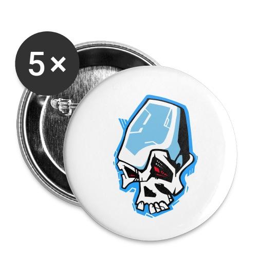 Skull Graffiti - Lot de 5 petits badges (25 mm)
