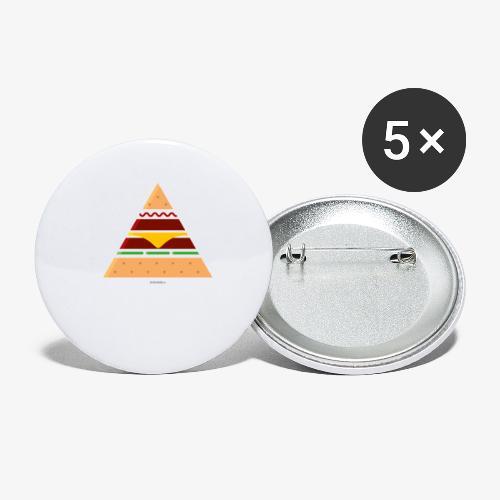Triangle Burger - Confezione da 5 spille piccole (25 mm)