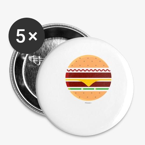 Circle Burger - Confezione da 5 spille piccole (25 mm)