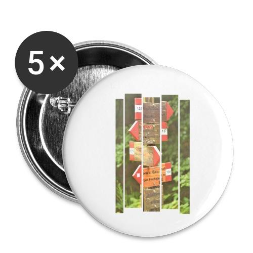 De verwarde hike - Buttons klein 25 mm (5-pack)