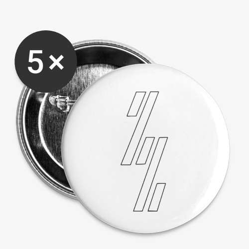 ZZ ZependeZ Shirt T-shirts - Buttons klein 25 mm (5-pack)